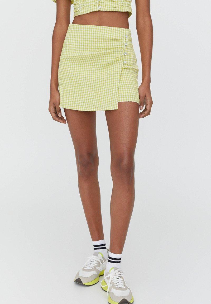 PULL&BEAR - A-line skirt - light green