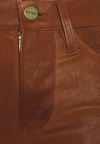 Frame Denim - LE HIGH SKINNY - Pantalon en cuir - tobacco - 3