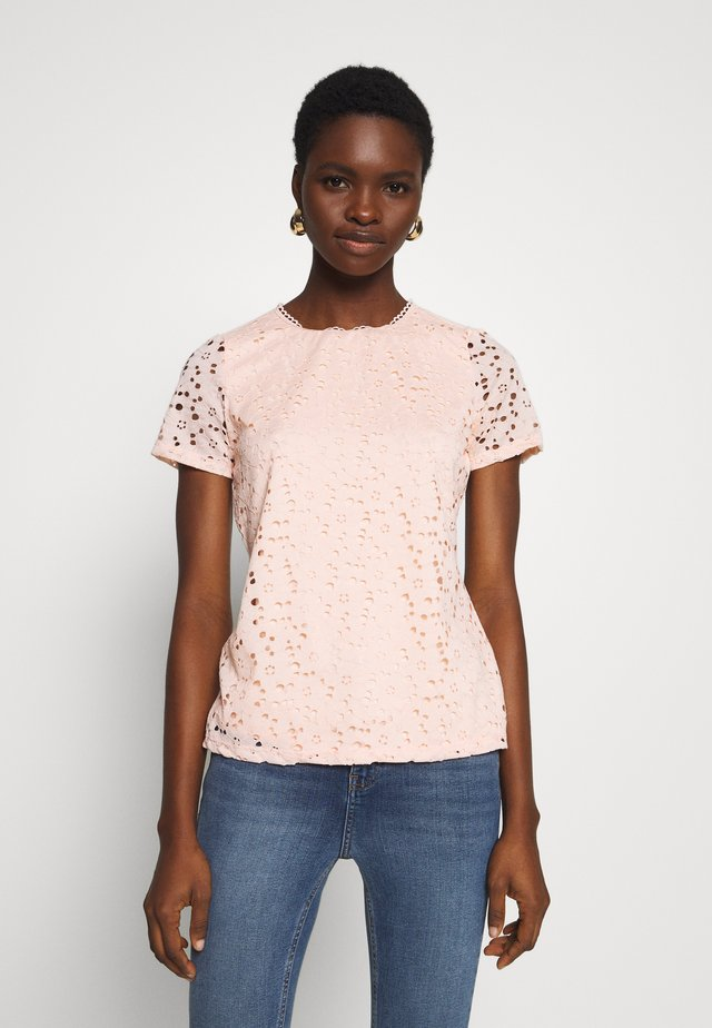 SHORT SLEEVE TEE - Blouse - apricot