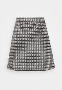 VMROYA SHORT SKIRT - A-line skirt - black/snow white