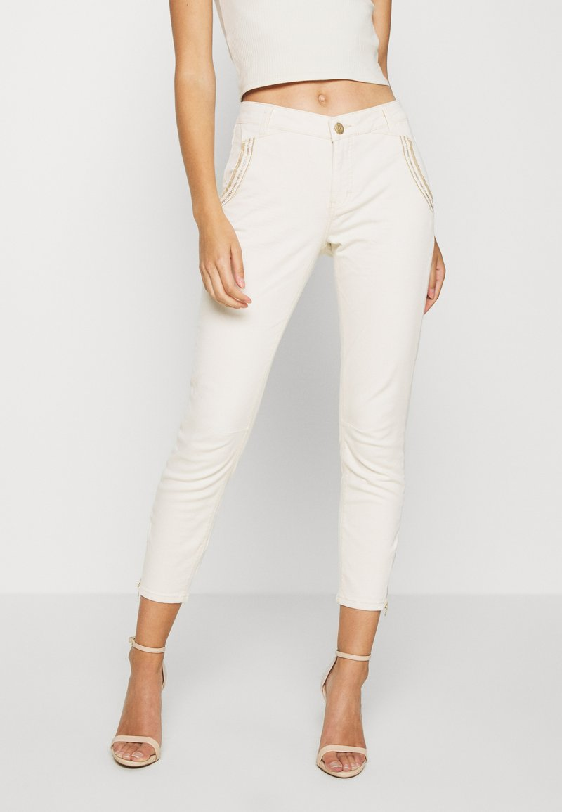 Mos Mosh - ETTA ZIP CREAM PANT - Slim fit jeans - ecru