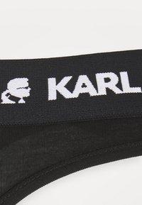 KARL LAGERFELD - LOGO THONG 2 PACK - Thong - black - 6
