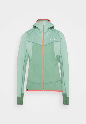 PUEZ HYBRID - Fleece jacket - feldspar green melange