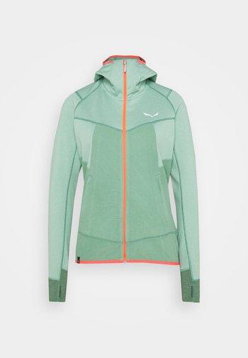 PUEZ HYBRID - Fleece jacket - feldspar green melange
