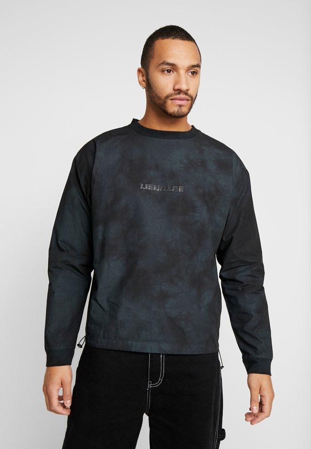 TIE DYE WITH BRANDING - Sweatshirt - black