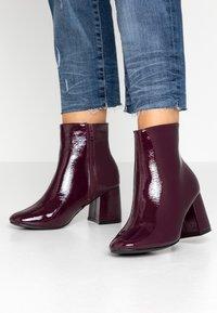 New Look Wide Fit - WIDE FIT BARISSA  - Ankelboots - dark red - 0