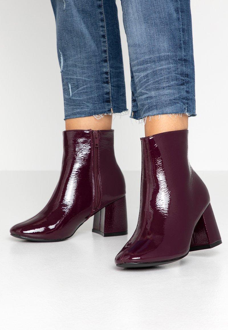 New Look Wide Fit - WIDE FIT BARISSA  - Ankelboots - dark red