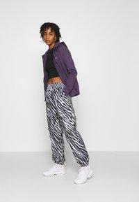Nike Sportswear - Zip-up hoodie - dark raisin/white - 1