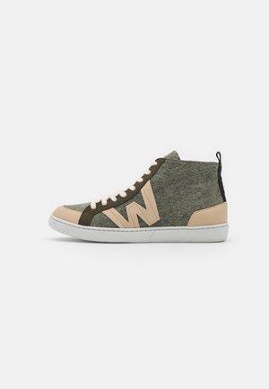 Sneakers hoog - beige/militare