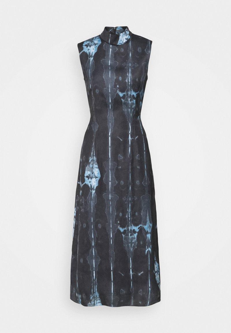 Never Fully Dressed Tall - HIGH NECK SLIP MIDI DRESS  - Day dress - navy/multi