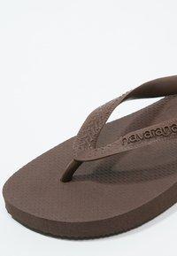 Havaianas - TOP - Pool shoes - dark brown - 5
