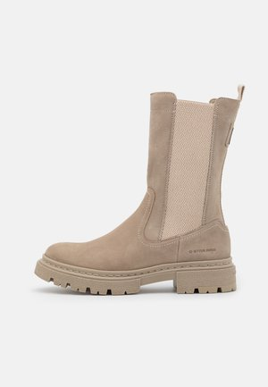KAFEY HGH CHS LEA W - Platform boots - taupe