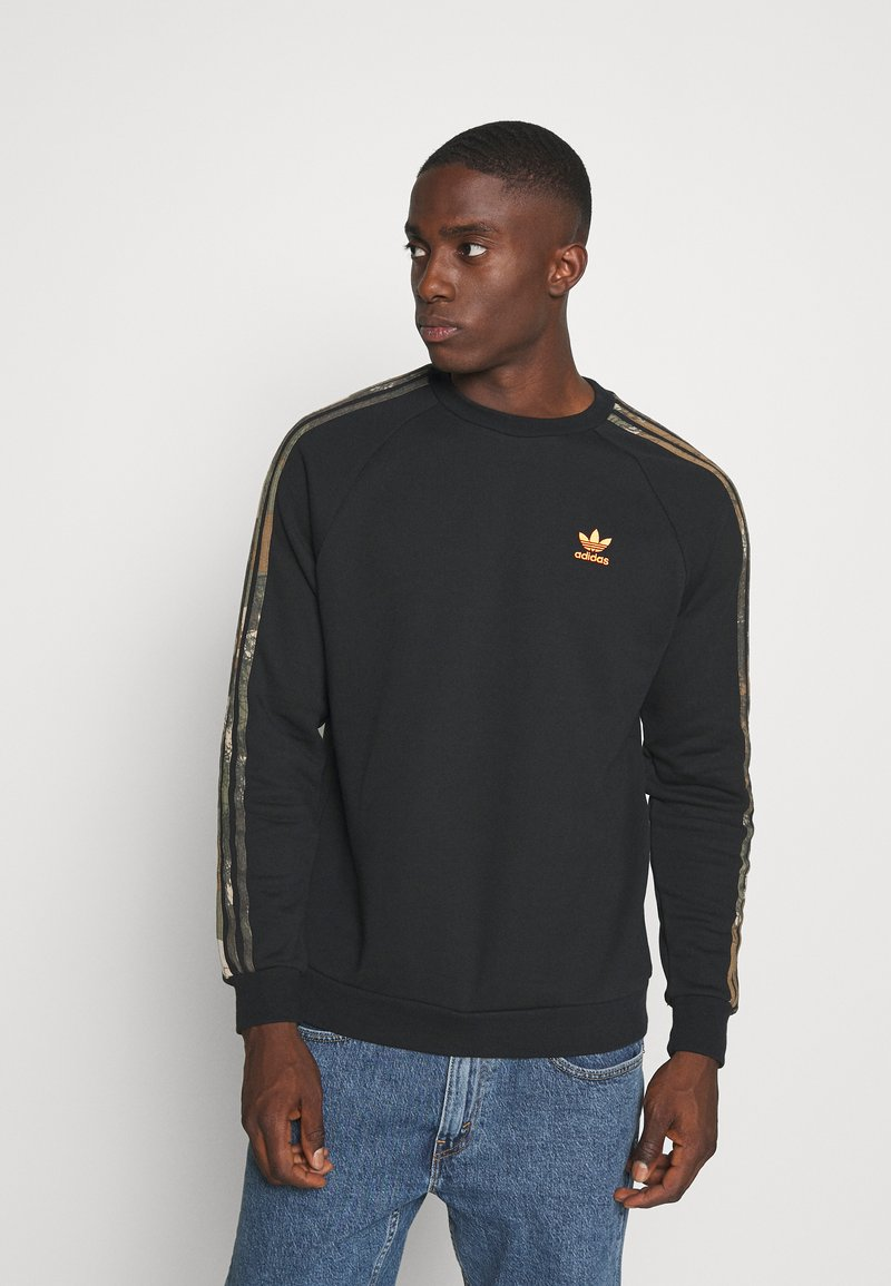 adidas Originals - CAMO CREWNECK - Bluza - black