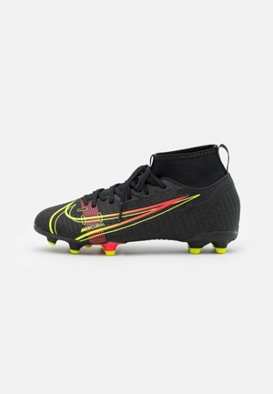 MERCURIAL JR 8 ACADEMY FG/MG UNISEX - Moulded stud football boots - black/cyber/off noir