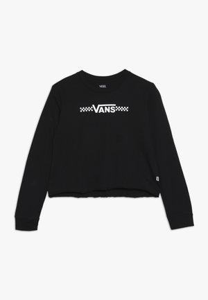 FUNNIER TIMES CROP - Maglietta a manica lunga - black