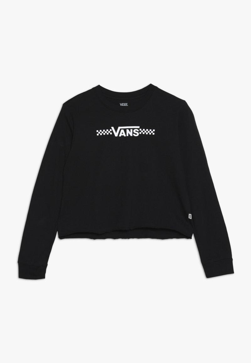 Vans - FUNNIER TIMES CROP - Bluzka z długim rękawem - black