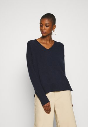 LONG SLEEVE V NECK - Sweter - scandinavian blue