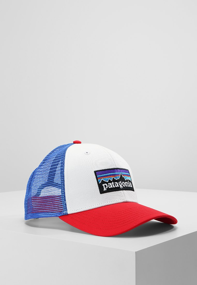Patagonia - LOGO TRUCKER HAT - Pet - white/fire/andes blue