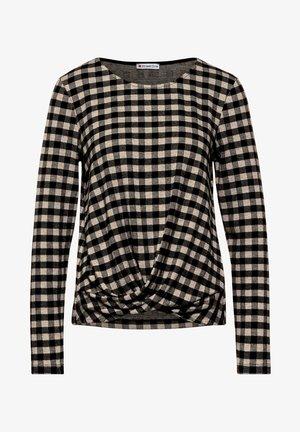 MIT VICHY-KARO - Long sleeved top - schwarz