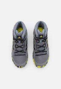 adidas Performance - TERREX HYPERHIKER TRAXION HIKING SHOES UNISEX - Hiking shoes - grey four/core black/grey three - 3