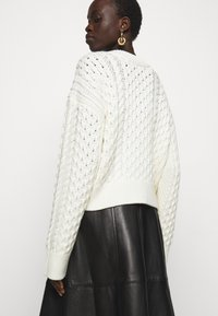 Proenza Schouler White Label - CABLE BUTTON BACK - Cardigan - ivory - 4