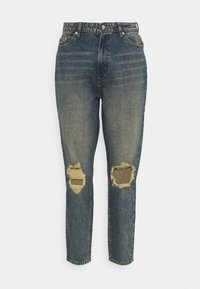 Missguided Plus - DISTRESSED TURN UP - Relaxed fit jeans - blue - 5