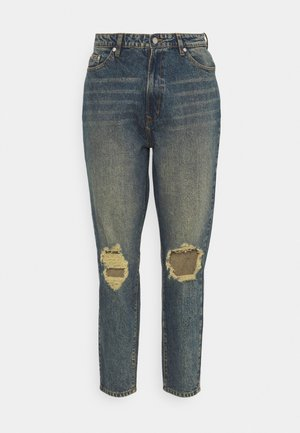 DISTRESSED TURN UP - Relaxed fit jeans - blue