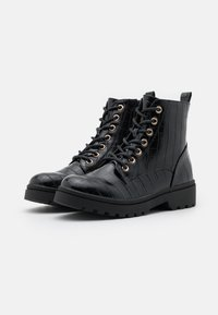 New Look - BOATING  LACE UP - Bottines à lacets - black - 2