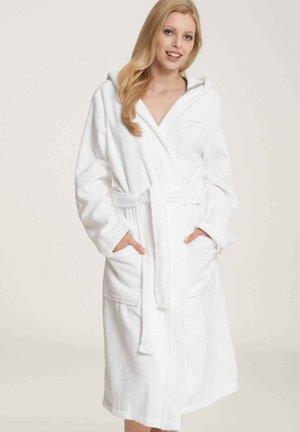 BADEMANTEL MIT KAPUZE LÄNGE - Dressing gown - white