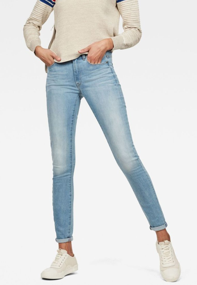 G-Star - 3301 HIGH SKINNY  - Jeans Skinny - light-blue denim