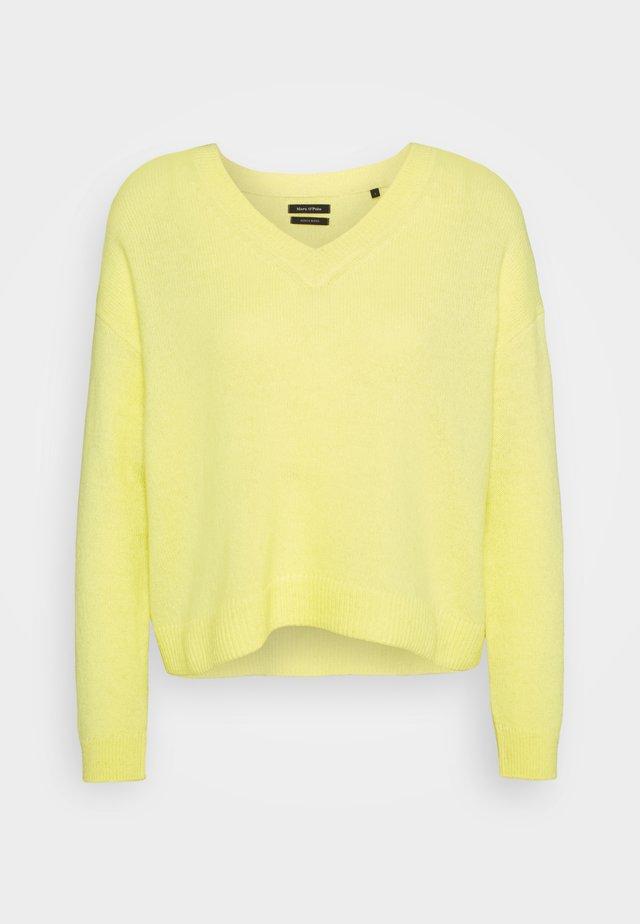 LONGSLEEVE V NECK CROPP - Sweter - bleached sun