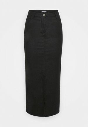 FRONT SPLIT MIDI SKIRT - Pencil skirt - black
