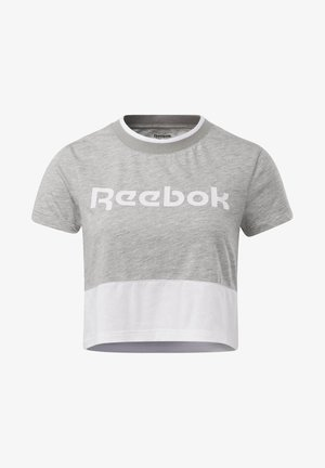 TRAINING ESSENTIALS LINEAR LOGO T-SHIRT - Print T-shirt - grey