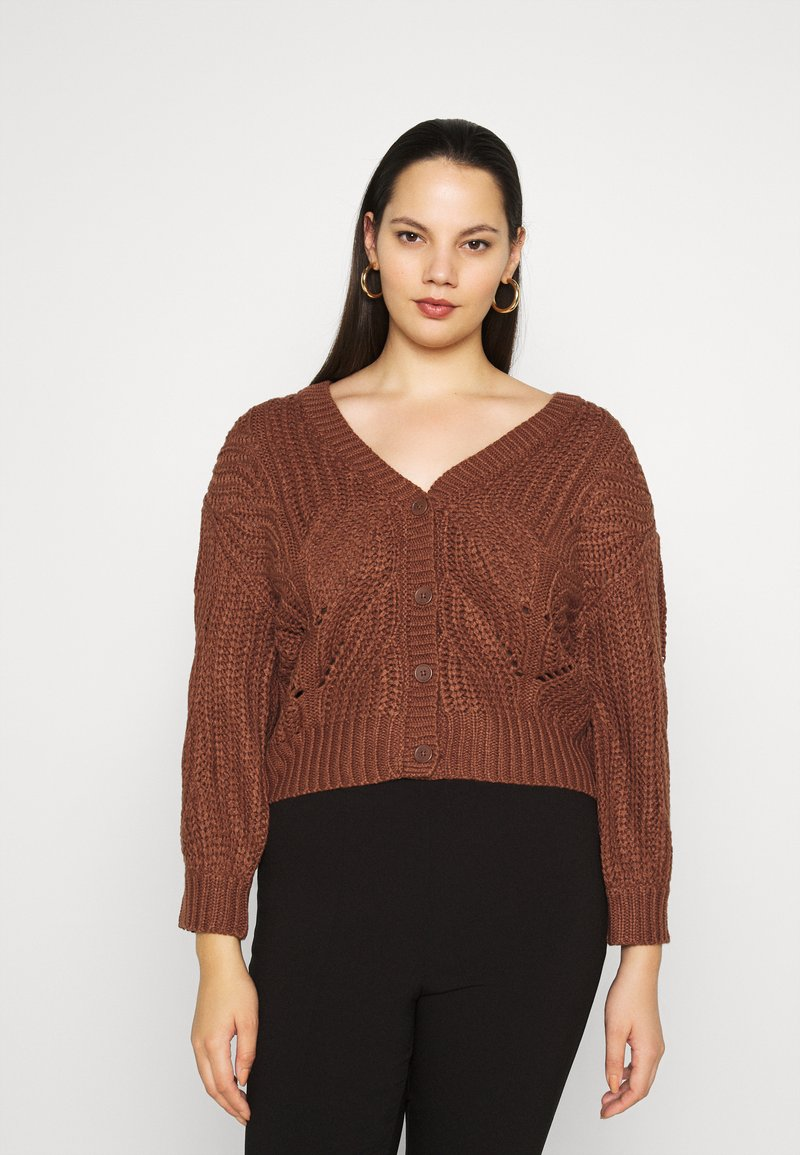Pieces Curve - PCRACHEL CARDIGAN - Cardigan - root beer