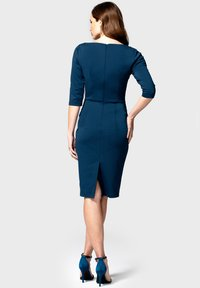 HotSquash - CHELSEA DRESS WITH BUTTONS - Day dress - teal and navy - 1