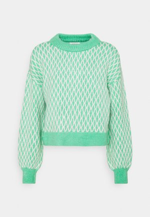 ONLCESILLA  - Cardigan - deep green/cloud dancer
