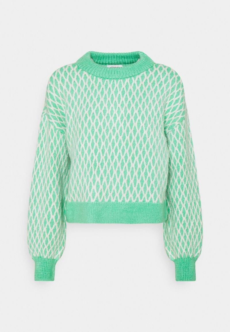 ONLY - ONLCESILLA  - Jumper - deep green/cloud dancer