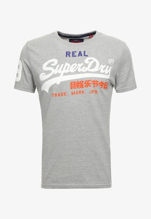 VINTAGE LOGO TRI TEE - T-shirt print - montana grey grit