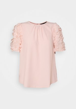 BLUSH 3D SLEEVE TOP - Blouse - blush