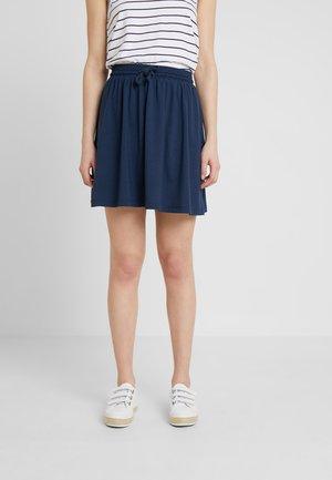 SKIRT WITH SMOK - A-line skirt - navy