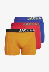 Jack & Jones - JACSIDE TRUNKS 3 PACK - Culotte - chinese red/persimoon orange/surf blue - 3