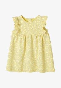Vertbaudet - Day dress - gelb bedruckt - 0