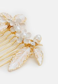 ONLY - ONLJENNA FLOWER HAIRCLIP - Hair styling accessory - gold-coloured/white - 2