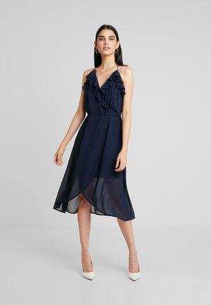 VIJOYO FLOUNCE DRESS - Juhlamekko - navy blazer