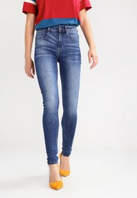 G-Star - 3301 HIGH SKINNY   - Jeans Skinny Fit - medium indigo aged - 0