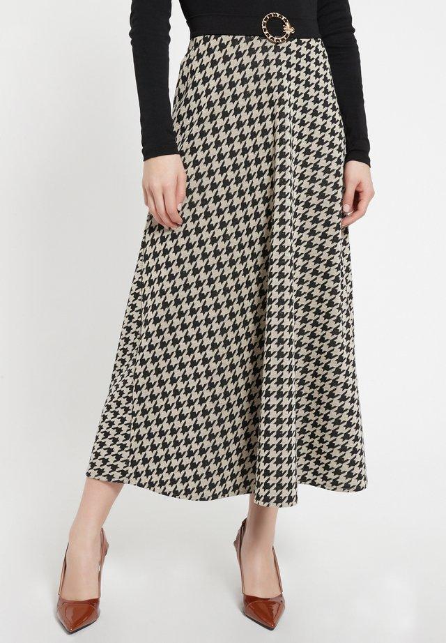 BEIMY - A-line skirt - schwarz-weiß