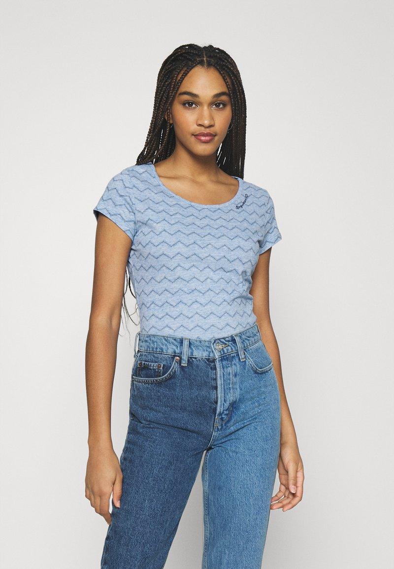 Ragwear - CHEVRON - Print T-shirt - blue