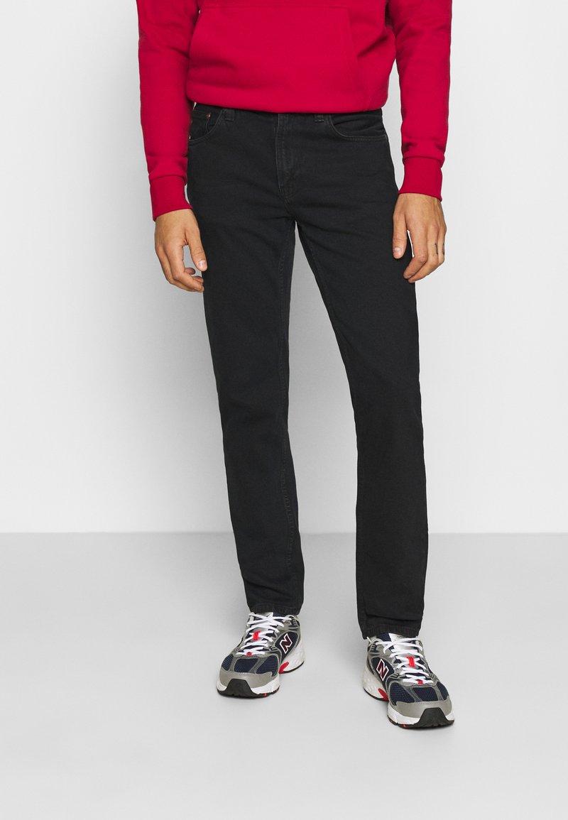 Nudie Jeans - GRITTY JACKSON - Džíny Straight Fit - black denim