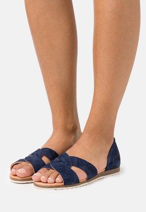 CHES - Peeptoe ballet pumps - dark blue