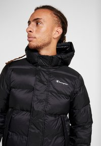 Champion - HOODED JACKET - Winter jacket - black - 3